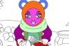 甜蜜小熊填颜色