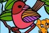美丽的鸟儿填颜色