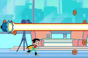 少年泰坦接力跑酷在线玩