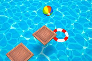 沙滩球跳圈