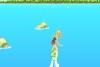 美女海上冲浪