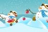 圣诞老人滑新雪橇