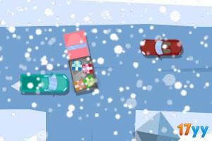 圣诞老人玩具车停靠
