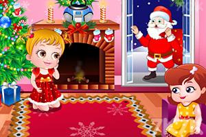 可爱宝贝过圣诞节