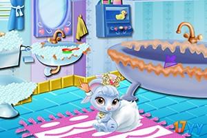 白雪公主清理浴室