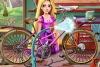 长发公主修理自行车