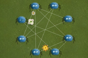 分解蜘蛛网