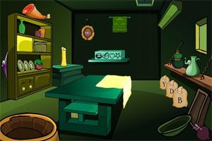 昏暗绿色房间逃脱