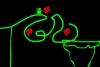 幸福绿色机器人