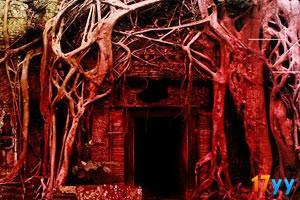 红色古庙逃脱