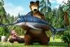 玛莎和熊钓鱼找数字