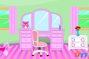 逃出可爱紫粉色房
