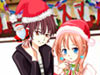 小情侣圣诞装