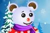 装扮泰迪熊雪人
