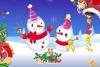 趣味雪人装扮