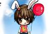 可爱兔兔男孩