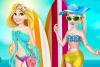 艾莎和长发公主泳装秀