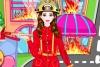 可爱的女消防员