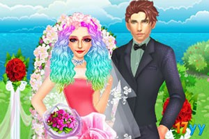 幸福的婚礼装扮